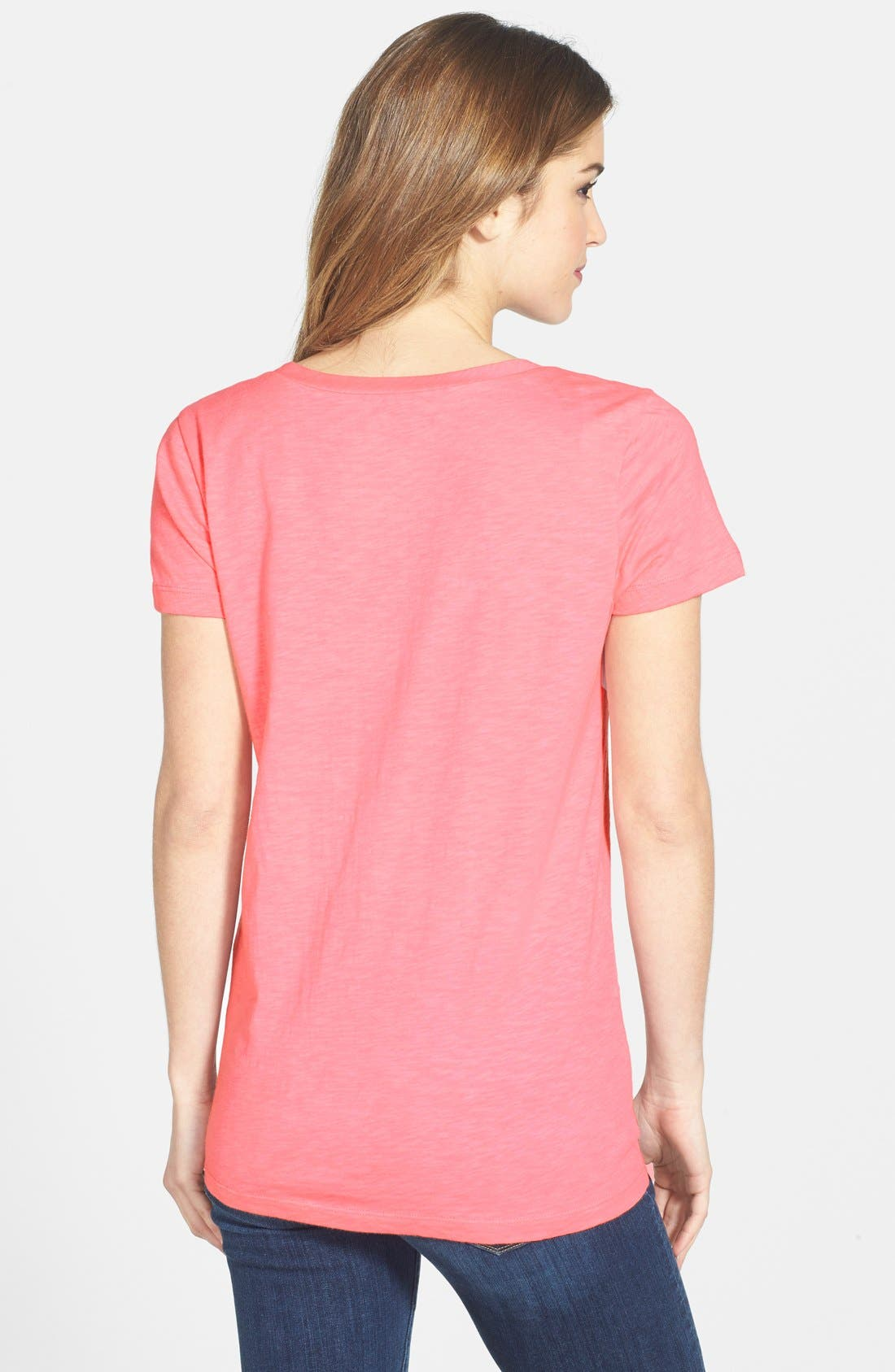 ,                             Relaxed Slub Knit U-Neck Tee,                             Alternate thumbnail 420, color,                             692