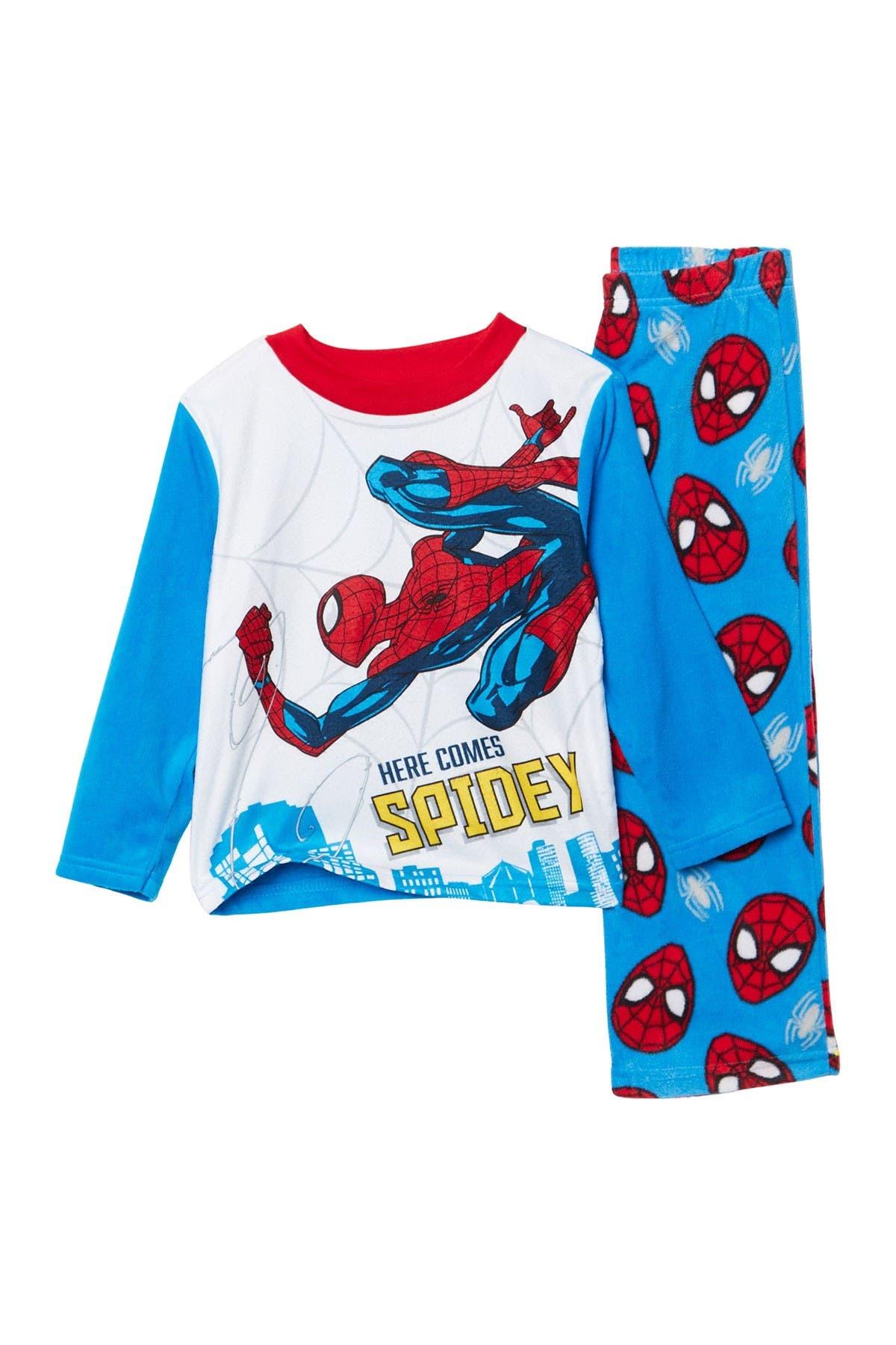 Image of AME Spider-Man Fleece Pant Pajama Set