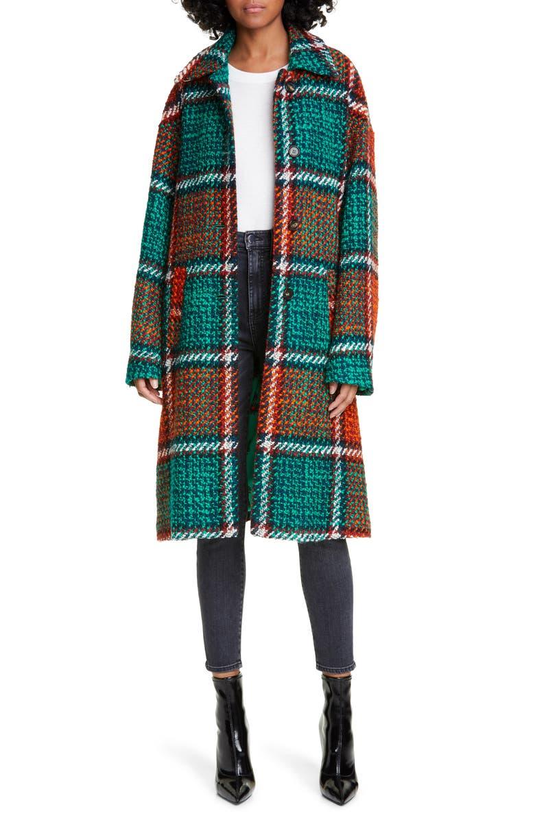 LA DOUBLEJ Boxy Plaid Coat, Main, color, CHECK MULTICOLOR