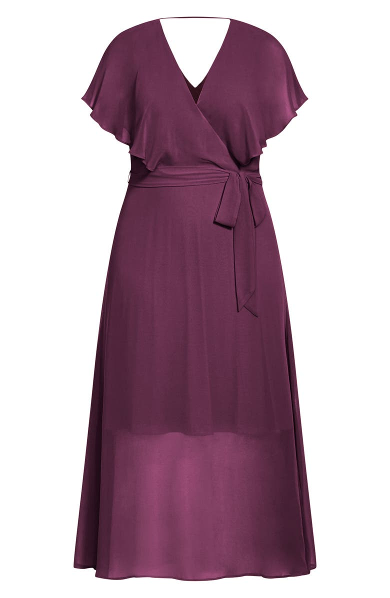 CITY CHIC Softly Tied Dress, Main, color, ORCHID