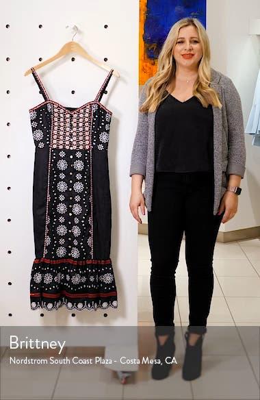 Giuliana Beaded Linen Dress, sales video thumbnail