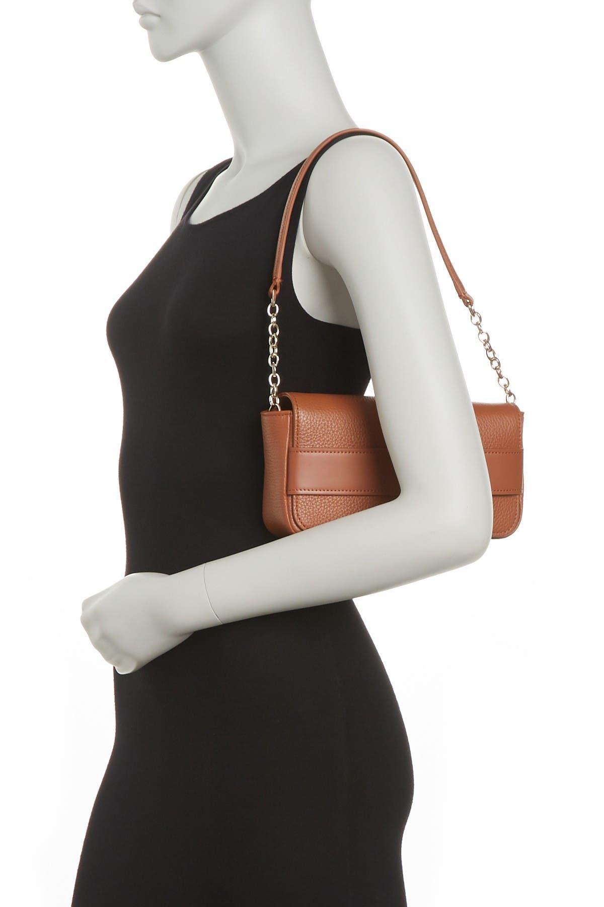 Image of Lipault Leather Chain Strap Shoulder Bag