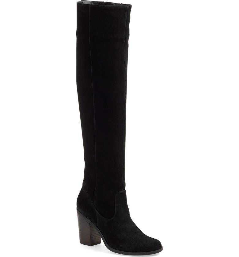 STEVE MADDEN 'Eternul' Over the Knee Block Heel Boot, Main, color, 006