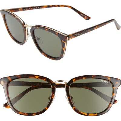 Quay Australia Run Around 5m Cat Eye Sunglasses - Tort/ Green