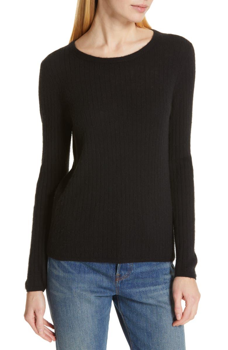 JENNI KAYNE Silk & Cashmere Sweater, Main, color, 001