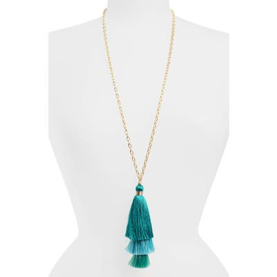 Stella + Ruby Stephanie Tassel Pendant Necklace