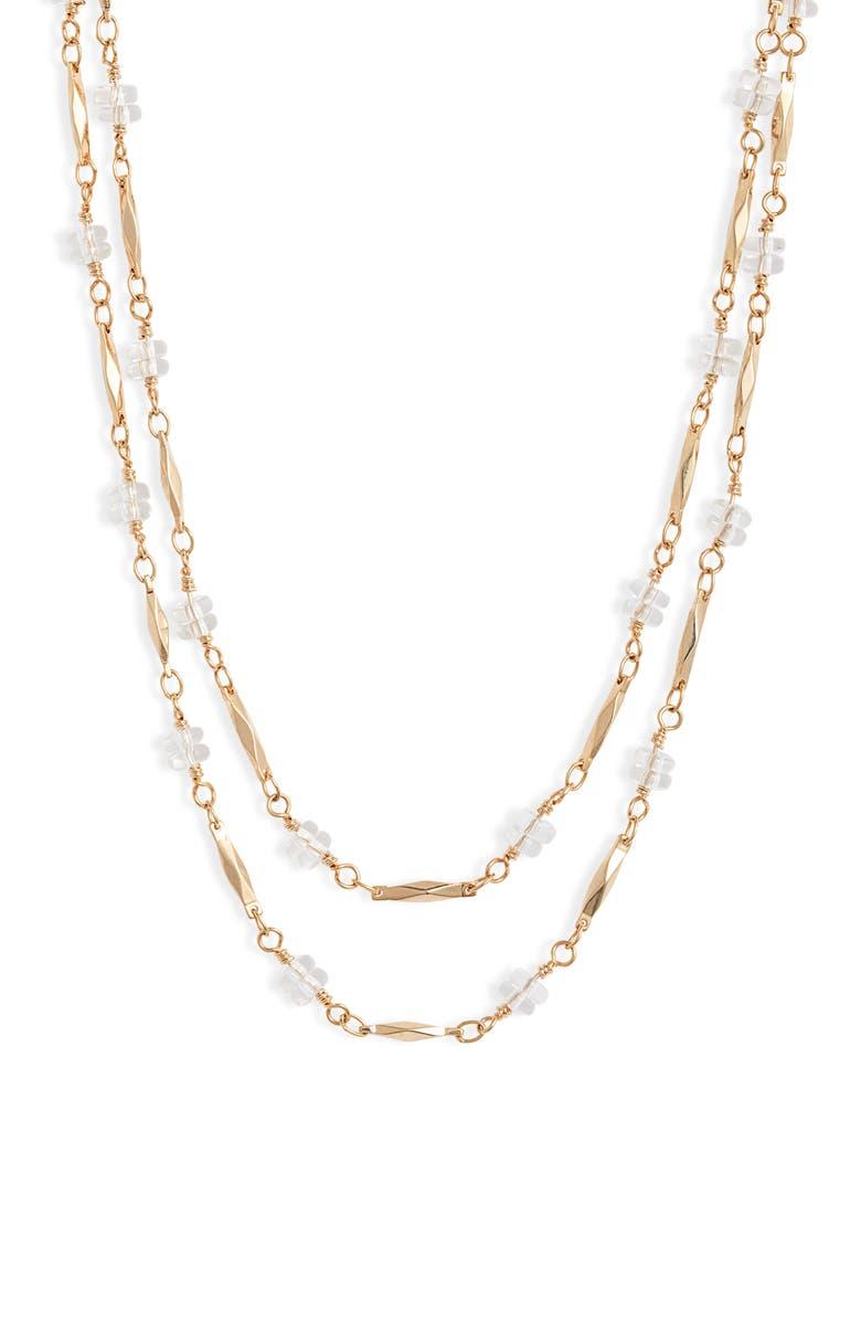 BRACHA Crystal Layered Choker, Main, color, GOLD