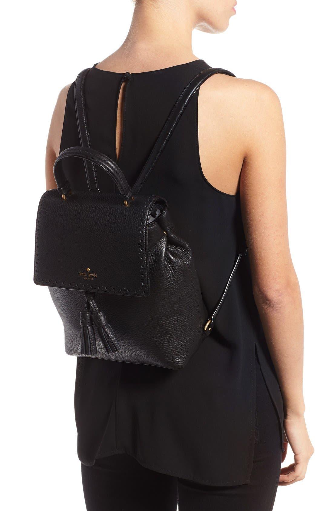 ,                             'james street - teba' leather backpack,                             Alternate thumbnail 5, color,                             001