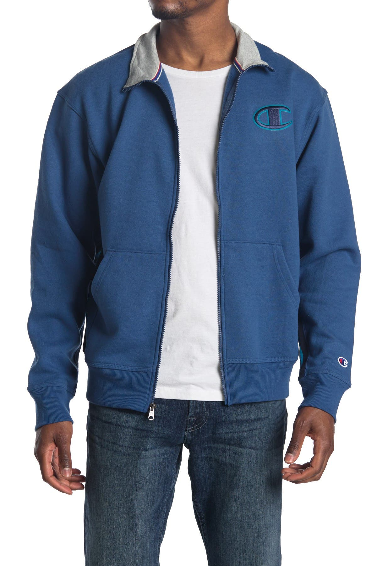 Image of Champion Powerblend Funnel Neck Jacket