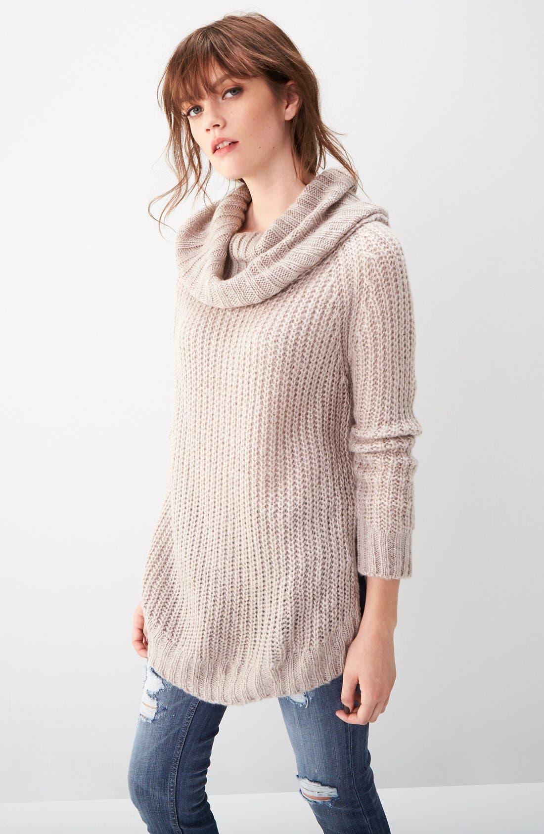 ,                             Cowl Neck Sweater,                             Alternate thumbnail 16, color,                             200