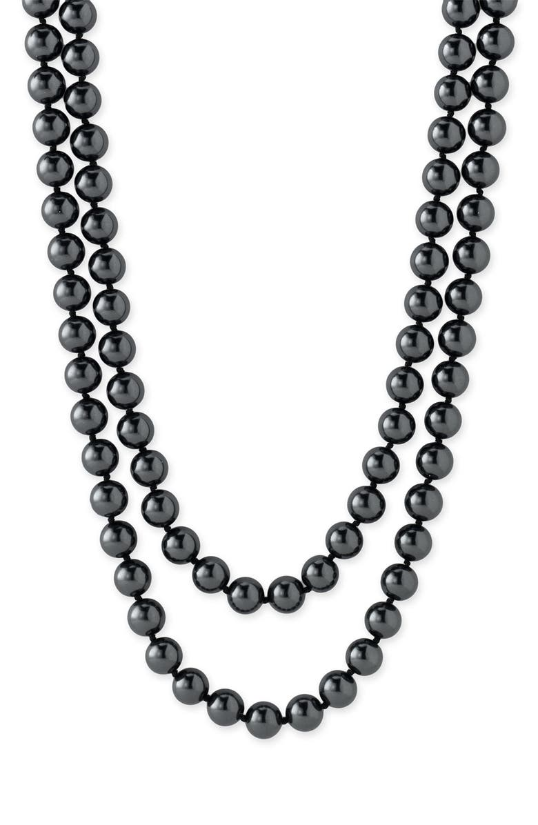 NORDSTROM 10mm Glass Pearl Extra Long Strand Necklace, Main, color, 001