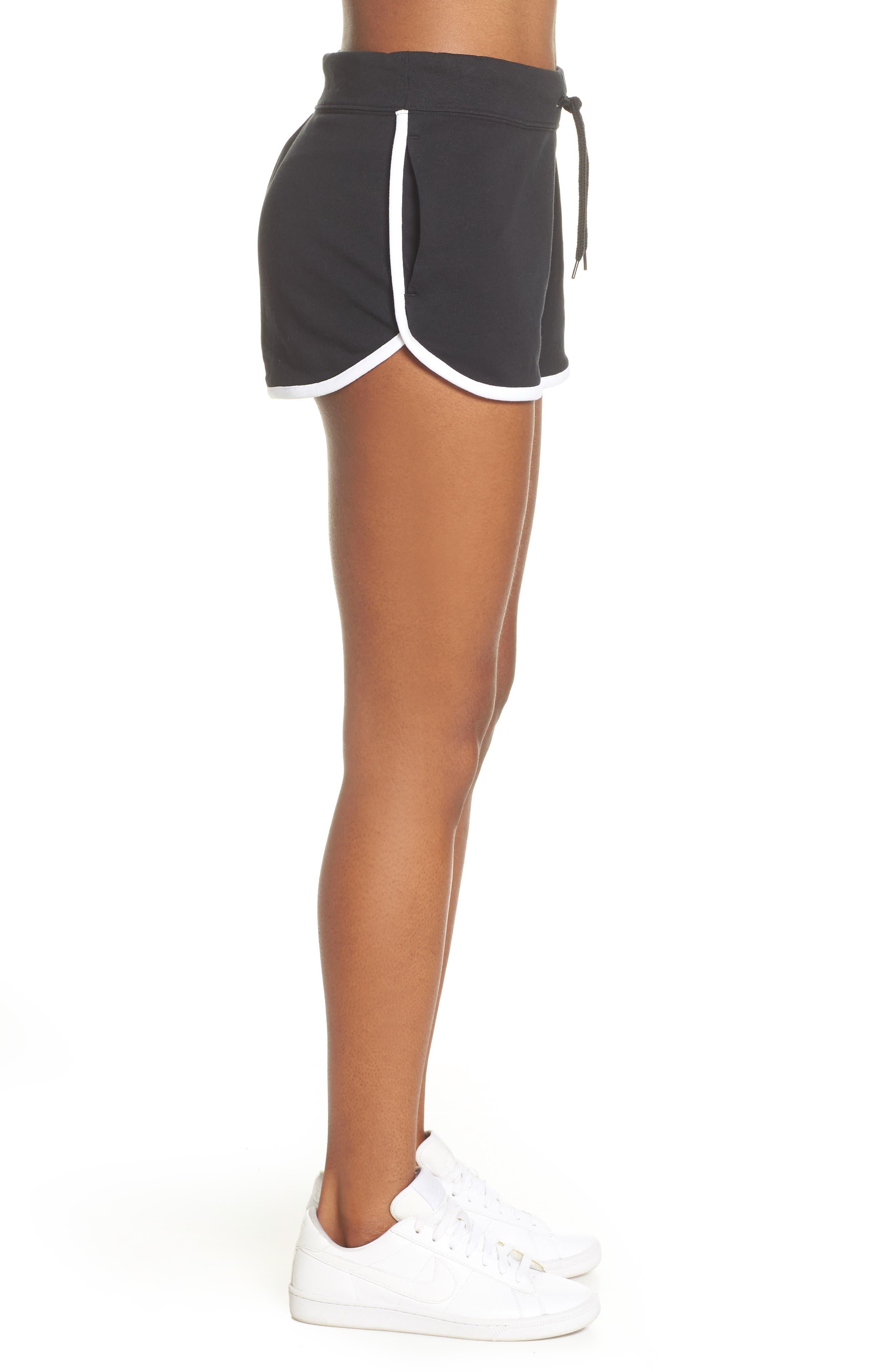 ,                             Sportswear Heritage Fleece Shorts,                             Alternate thumbnail 6, color,                             BLACK/ WHITE/ WHITE