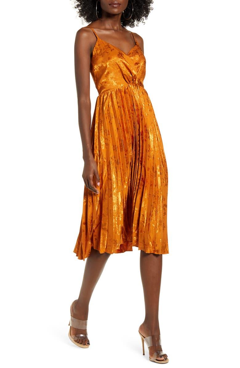 J.O.A. Pleat Skirt Sleeveless Dress, Main, color, 200