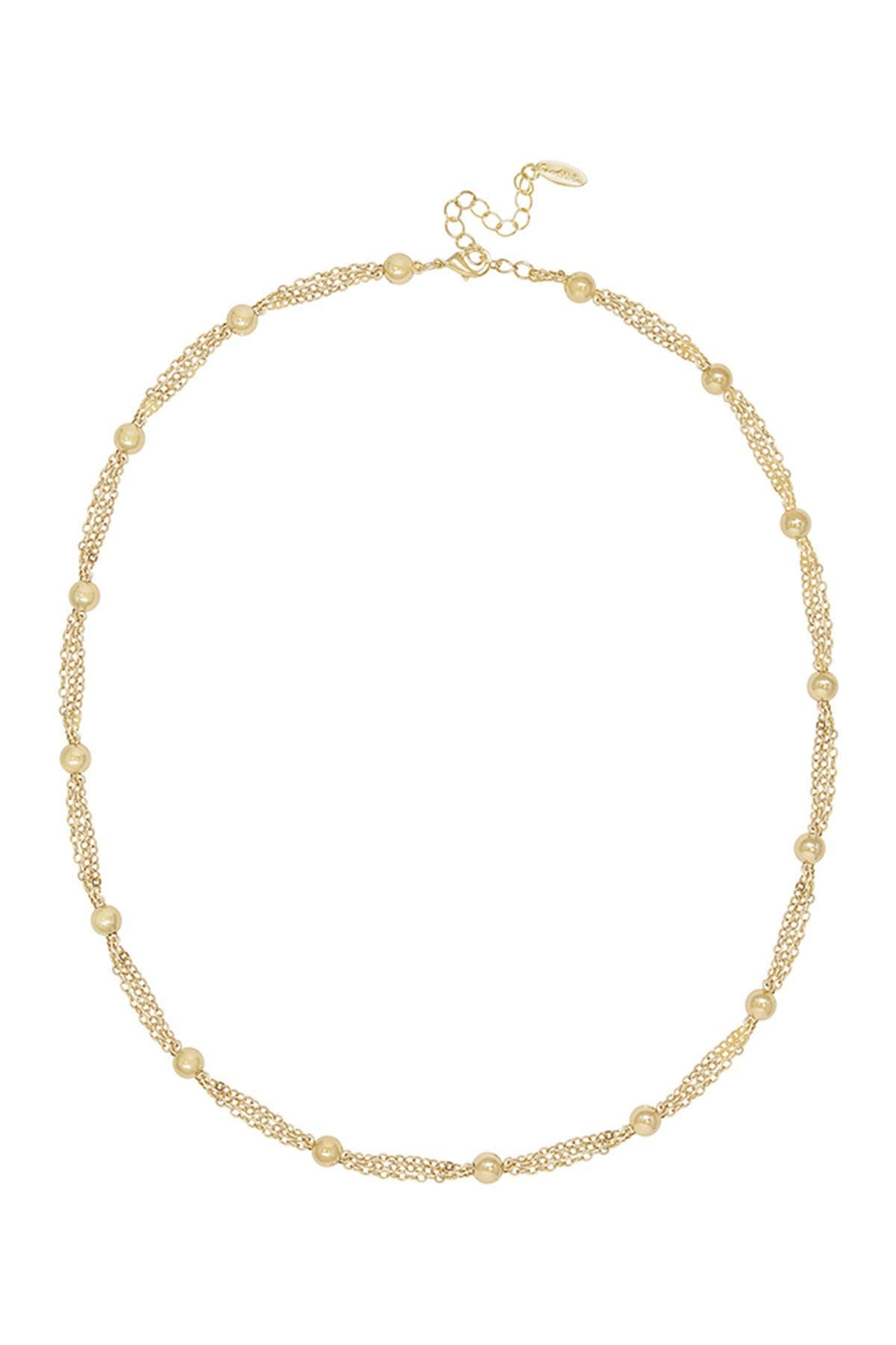 Image of Ettika Gold Tone Multi Ball Chain Layered Necklace