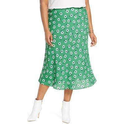 Plus Size Halogen Bias Cut Midi Skirt