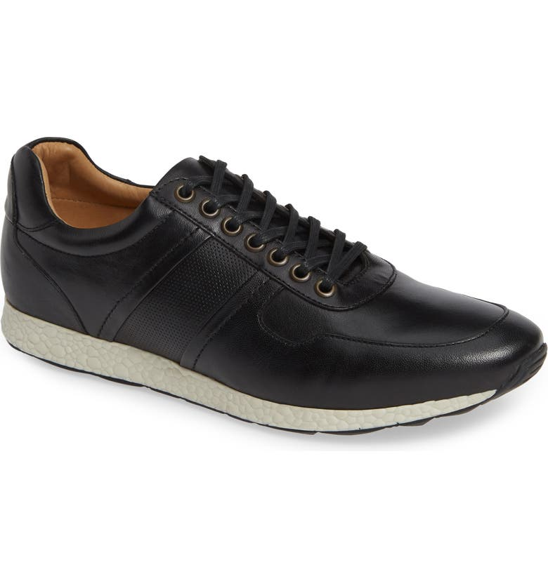 NORDSTROM MEN'S SHOP Frank Sneaker, Main, color, BLACK LEATHER
