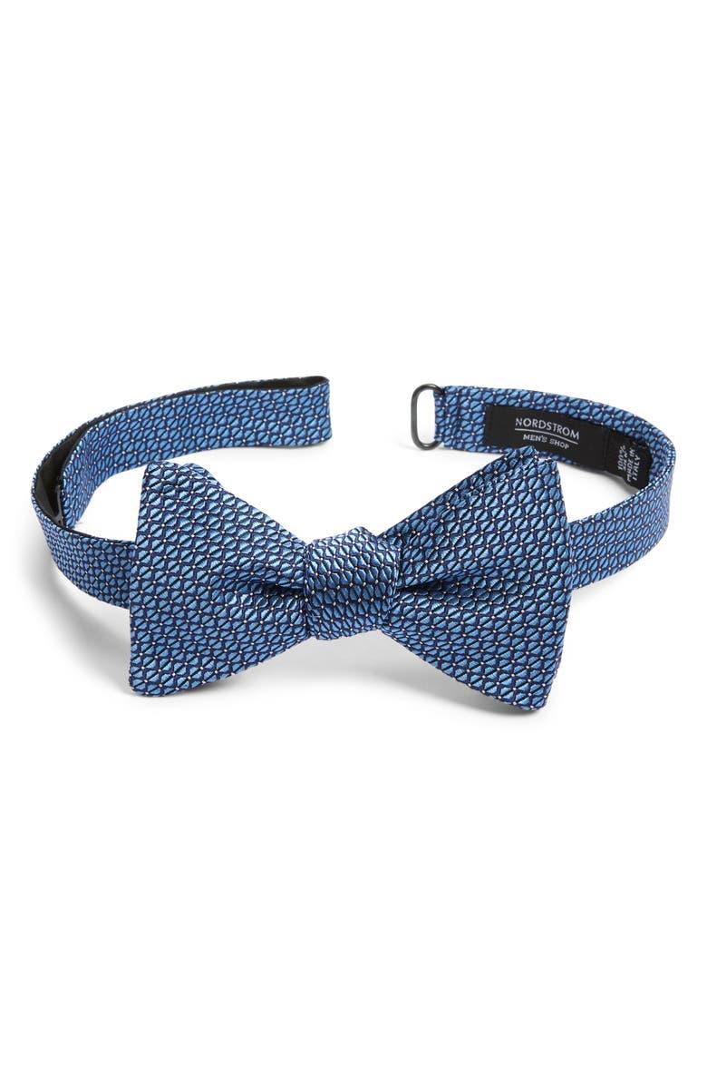 NORDSTROM MEN'S SHOP Preston Geometric Silk Bow Tie, Main, color, 400