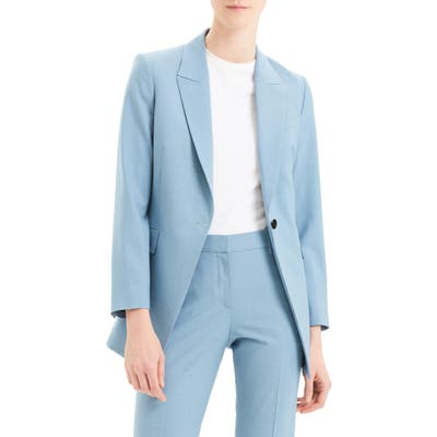 Theory Etiennette B Good Wool Suit Jacket, Blue