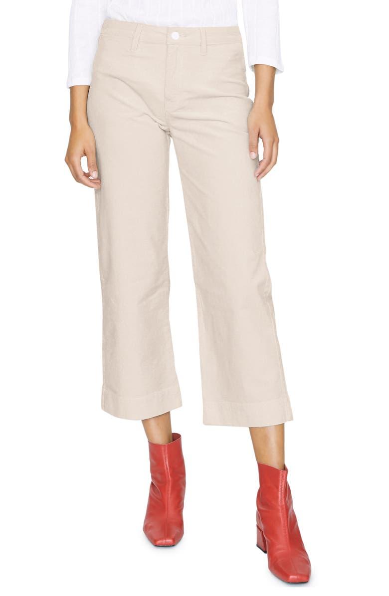 SANCTUARY Quinn Stretch Cotton Crop Trousers, Main, color, MOONSTONE