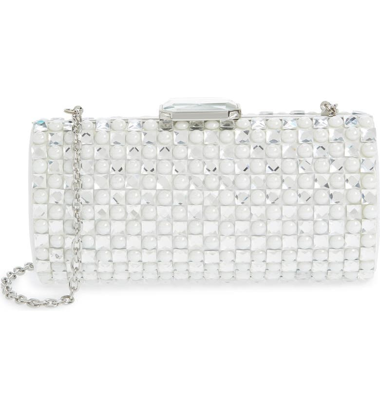 SONDRA ROBERTS Crystal Clutch, Main, color, 100
