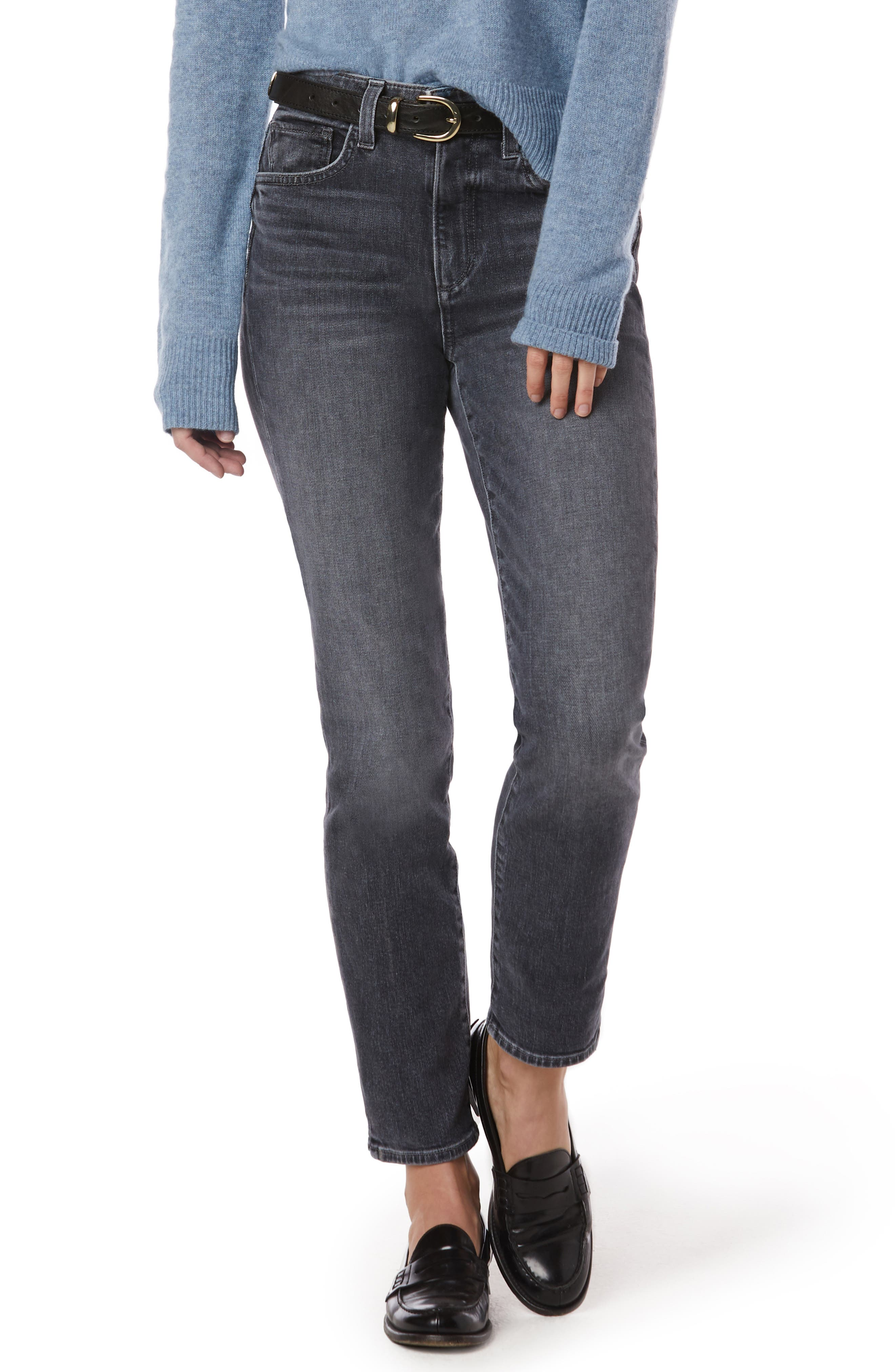 The Erin High Waist Ankle Straight Leg Jeans