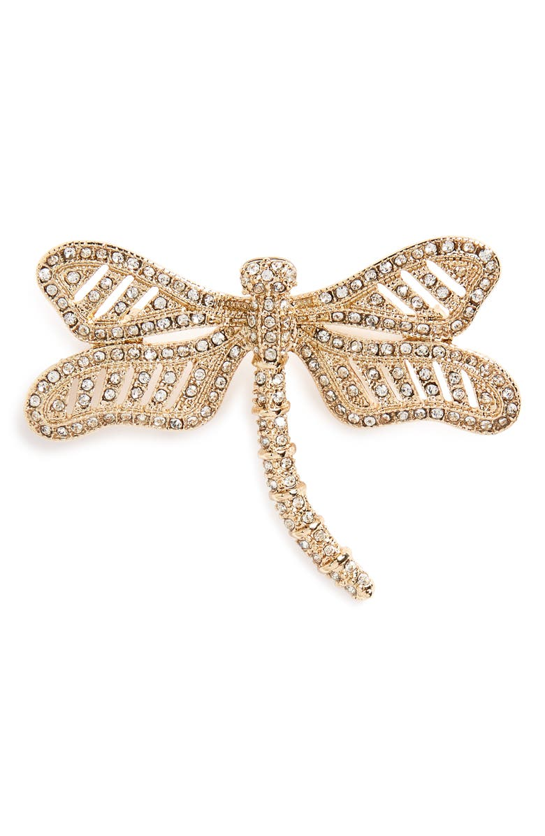 LEITH Dragonfly Brooch, Main, color, 710