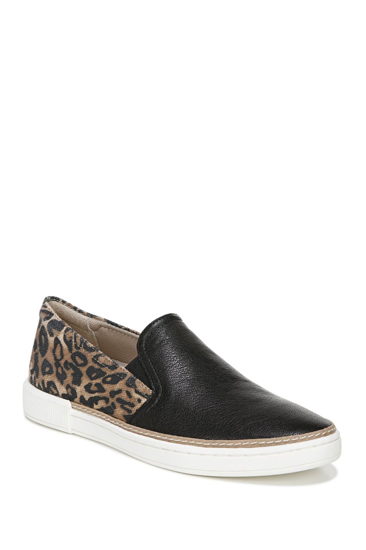 Image of Naturalizer Zola Leather Cheetah Print Leather Slip-On Sneaker