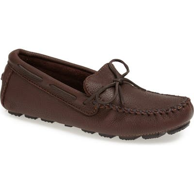 Minnetonka Moosehide Driving Shoe, Brown
