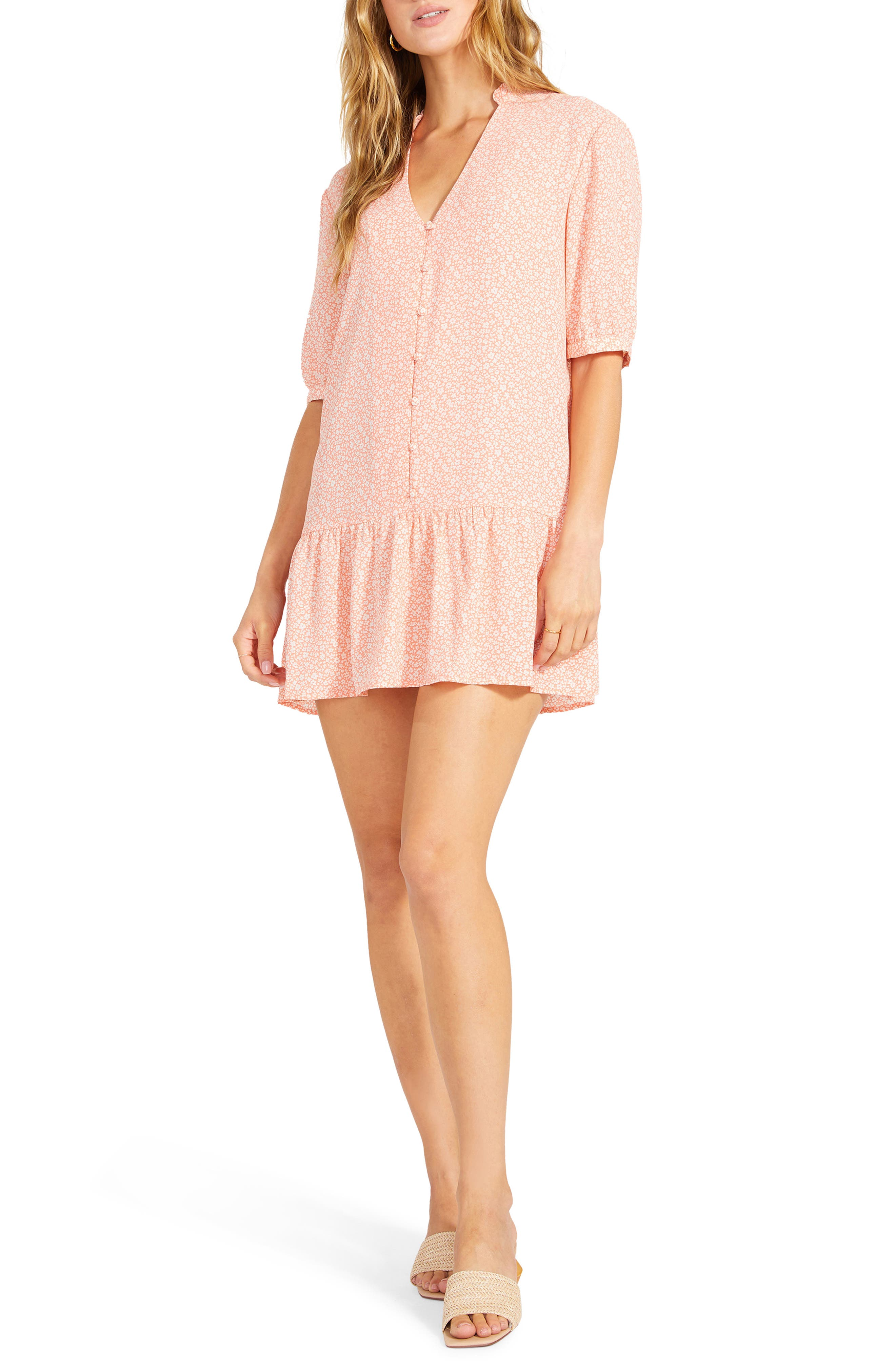 Been Here Before Ditsy Floral Drop Hem Minidress