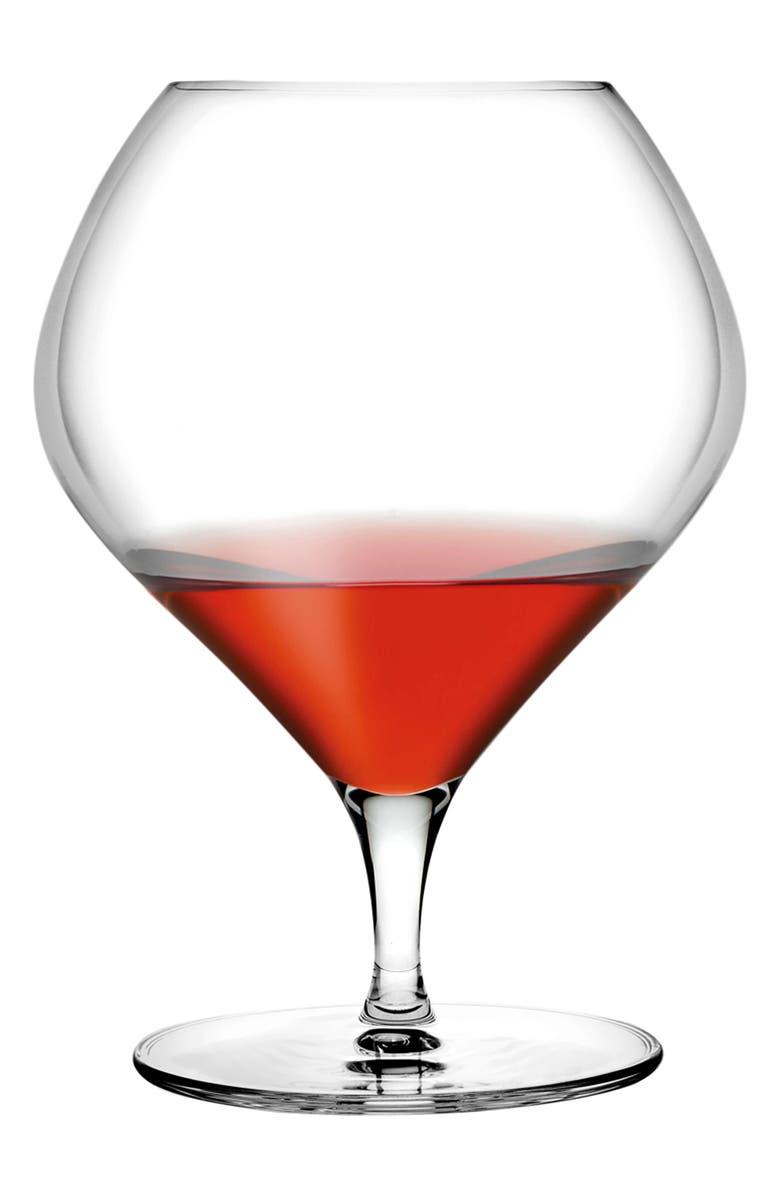 NUDE Fantasy Set of 2 Cognac Glasses, Main, color, CLEAR