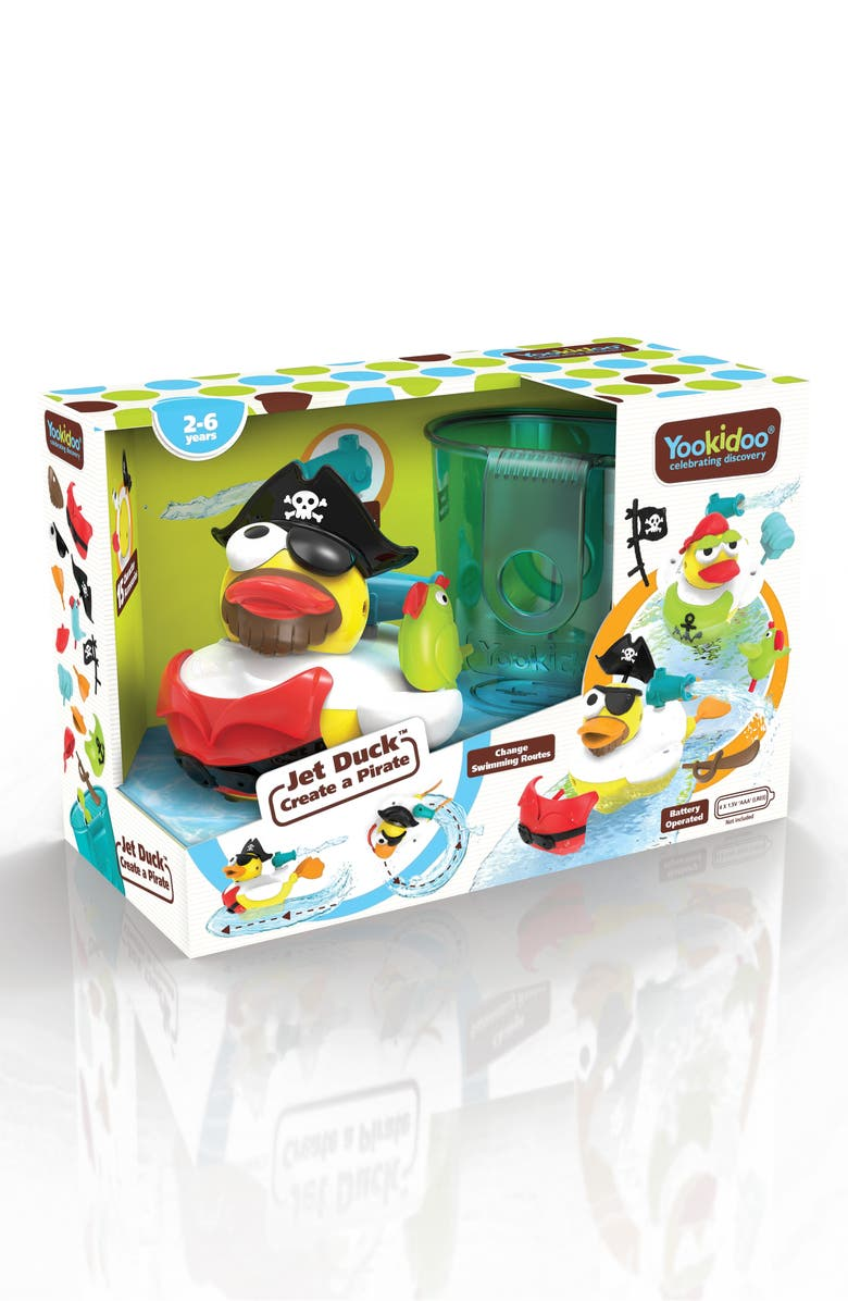 YOOKIDOO Jet Duck<sup>™</sup> Create a Pirate Bath Toy Kit, Main, color, YELLOW
