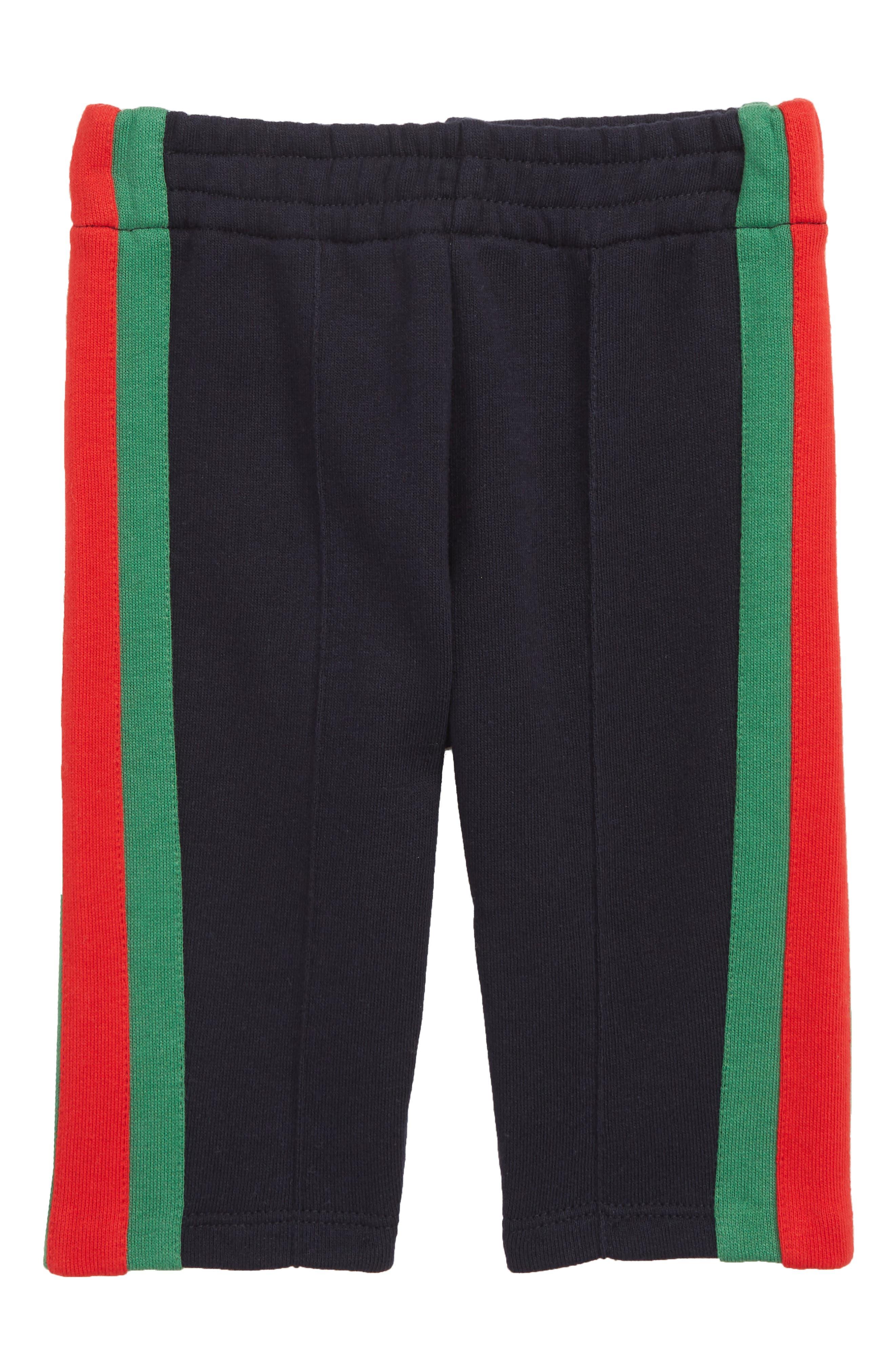 ,                             Stripe Jogger Pants,                             Main thumbnail 1, color,                             URBAN BLUE/ GREEN/ RED