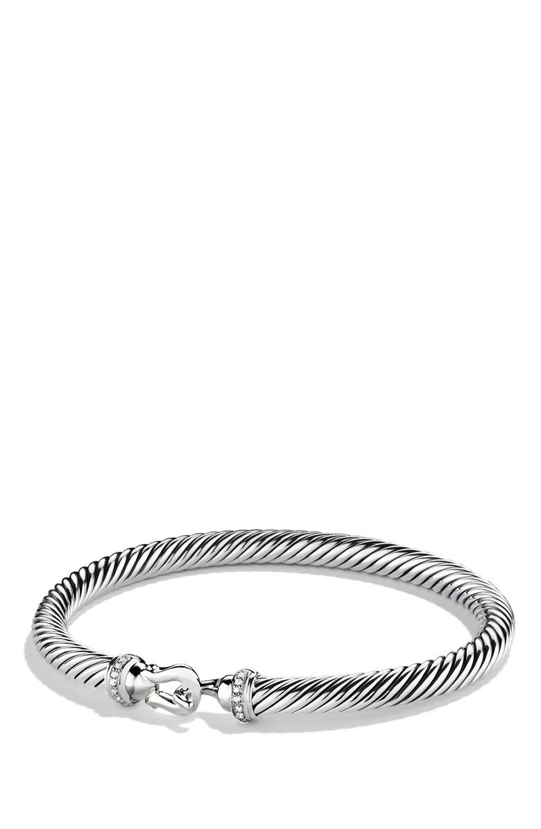 DAVID YURMAN Cable Buckle Bracelet with Diamonds, 5mm, Main, color, DIAMOND
