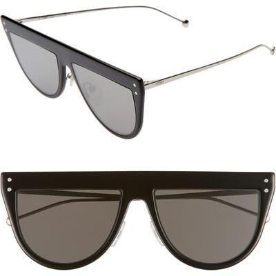 Fendi 55Mm Flat Top Sunglasses - Black
