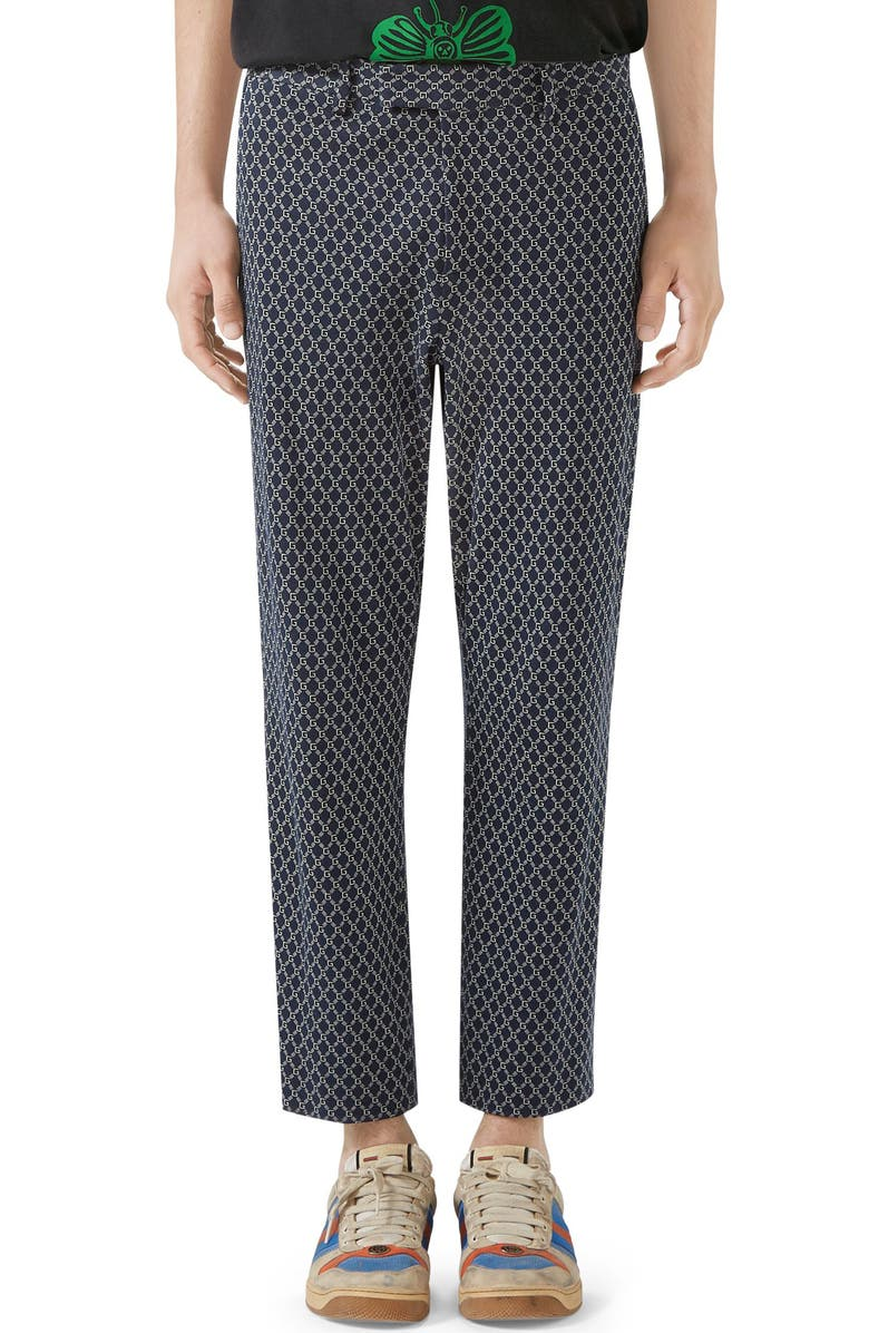 Gucci Cotton Print Trousers