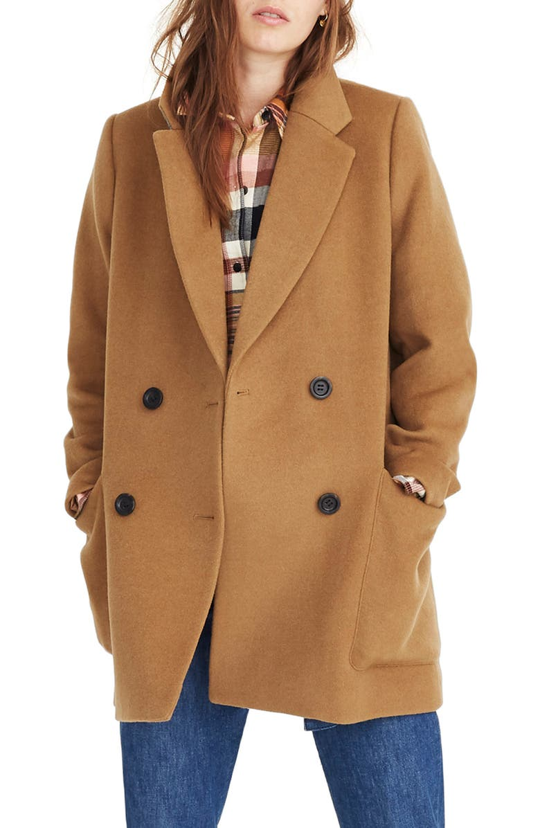 MADEWELL Hollis Double Breasted Coat, Main, color, 250