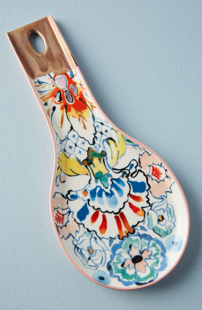 ANTHROPOLOGIE Eres Stoneware Spoon Rest, Main, color, 100