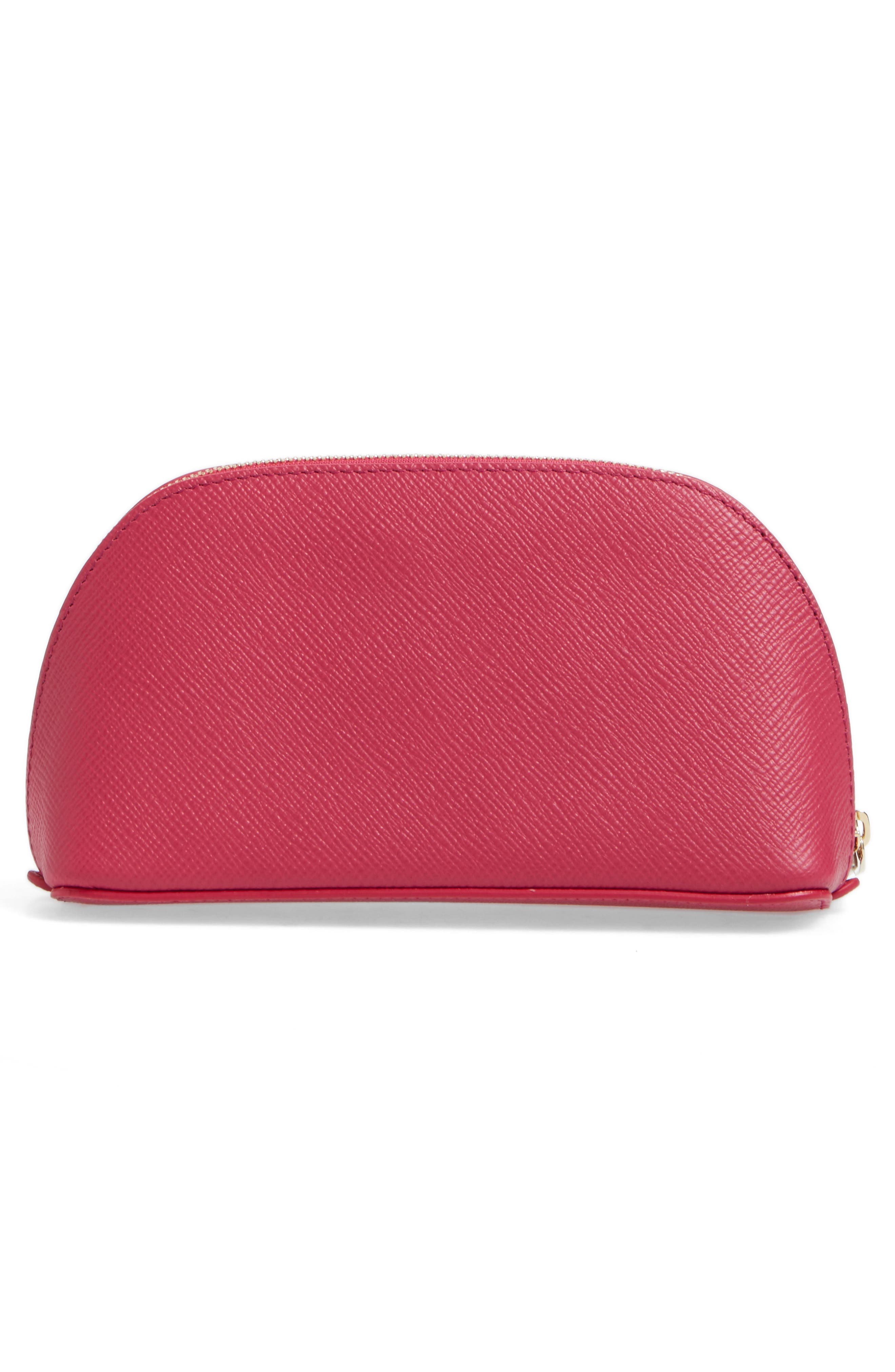 ,                             Small Calfskin Leather Cosmetics Case,                             Alternate thumbnail 8, color,                             650