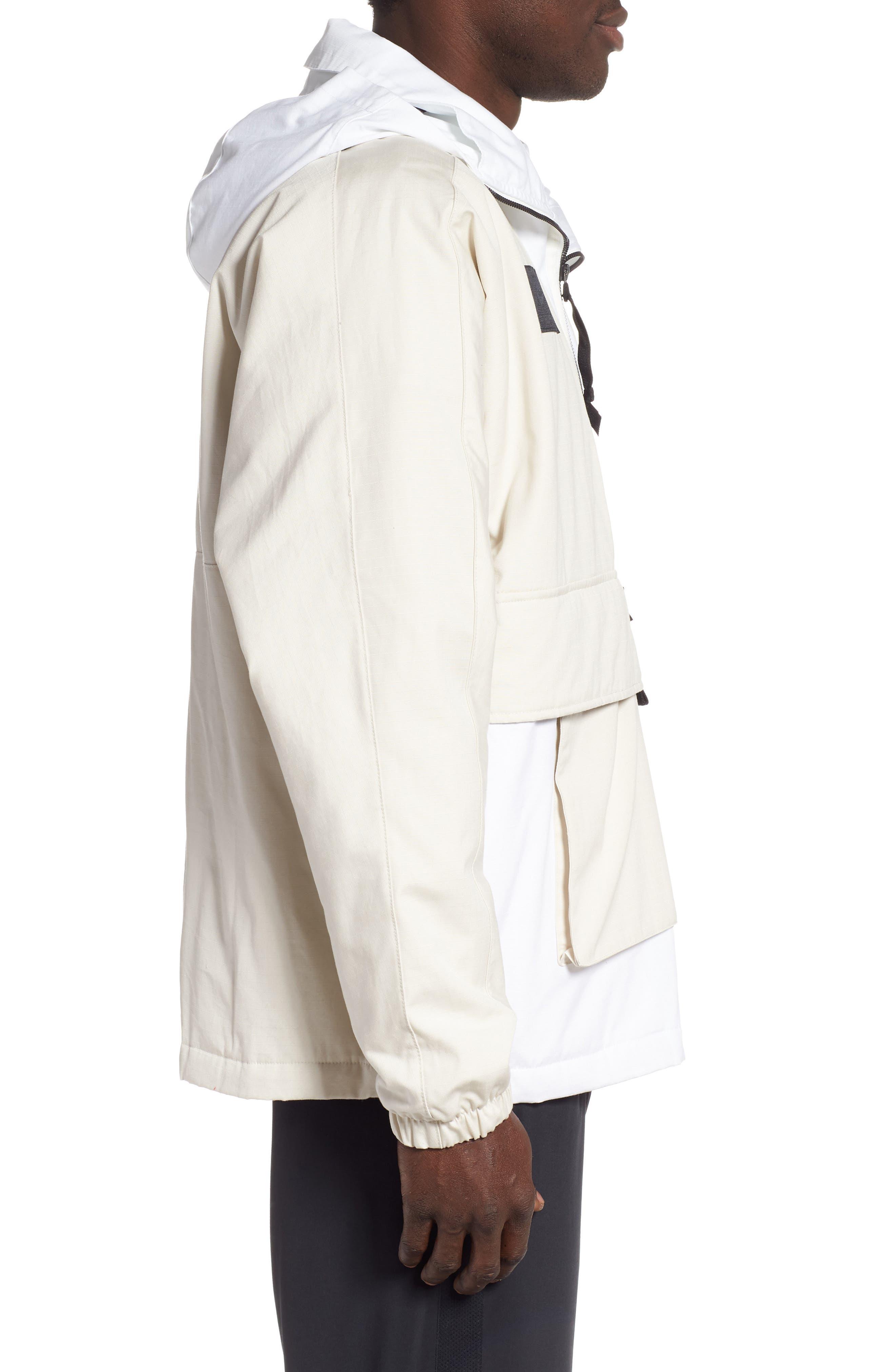 ,                             Sportswear AF1 Hooded Jacket,                             Alternate thumbnail 4, color,                             LT OREWOOD BRN/ BLACK