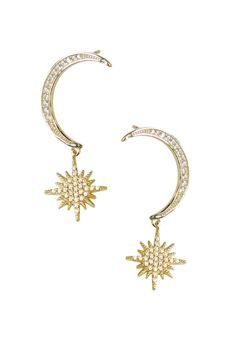 JULES SMITH Dreamer Drop Earrings, Main, color, GOLD/ CLEAR