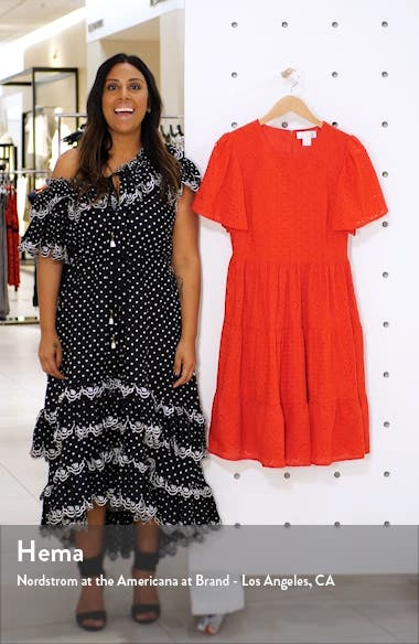 Mixed Eyelet A-Line Dress, sales video thumbnail