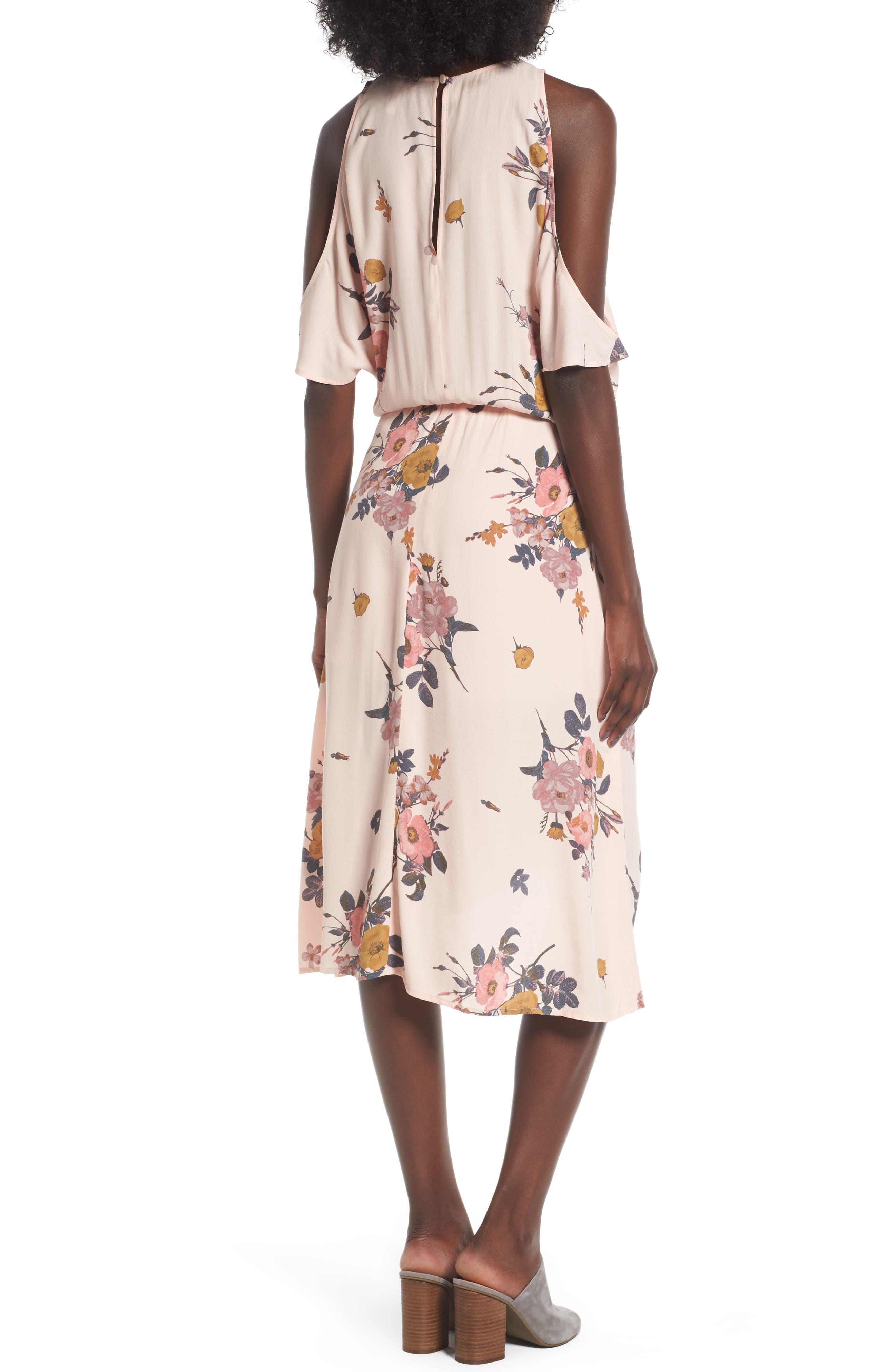 ,                             Cold Shoulder Midi Dress,                             Alternate thumbnail 9, color,                             681