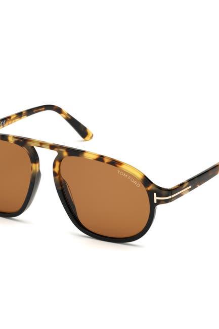 Image of Tom Ford Harrison 57mm Aviator Sunglasses