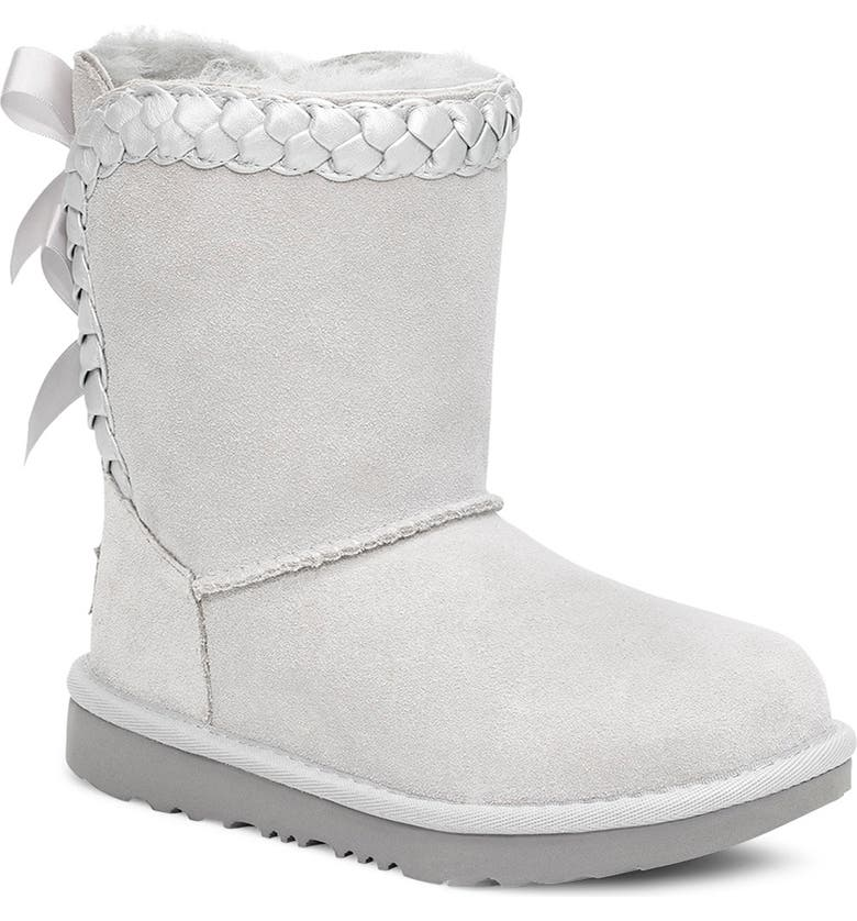 UGG<SUP>®</SUP> Classic Short II Braided Bootie, Main, color, GREY VIOLET