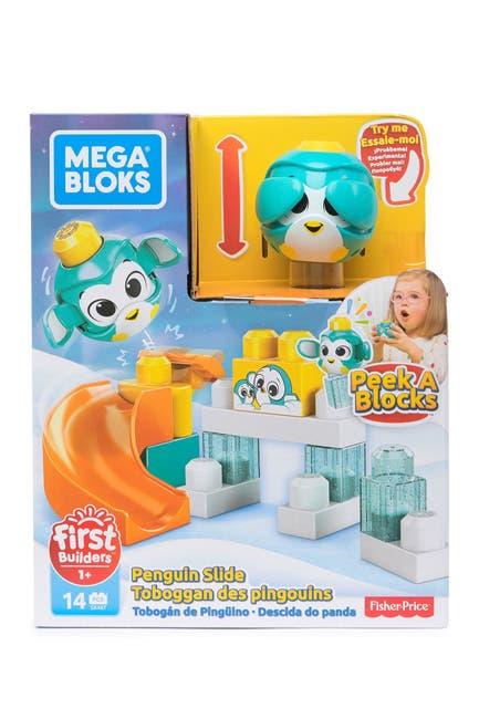Image of Mattel Images 1/6Double click to zoom Mega Bloks® Peek A Blocks™ Launch 'n Roll Assortment