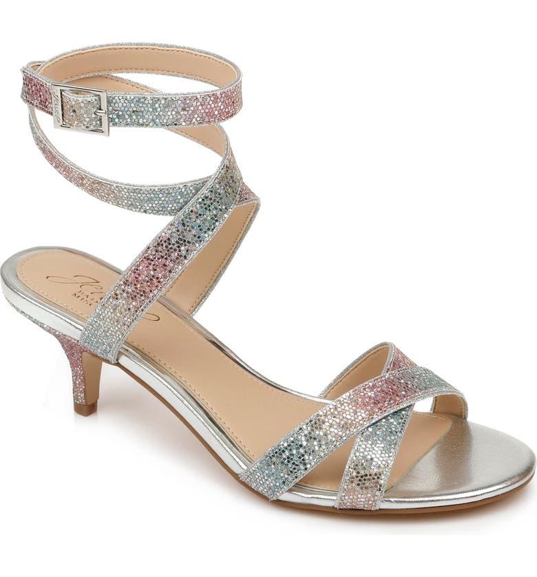 JEWEL BADGLEY MISCHKA Newton Glitter Sandal, Main, color, RAINBOW