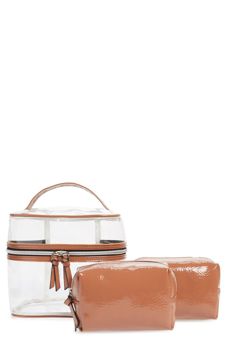 VIOLET RAY NEW YORK 3-Piece Cosmetic Cases, Main, color, 250