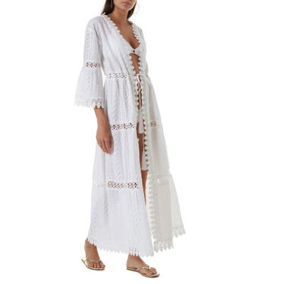 Melissa Odabash Robbi Maxi Cover-Up Tunic, White