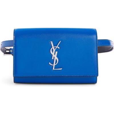 Saint Laurent Kate Leather Belt Bag - Blue