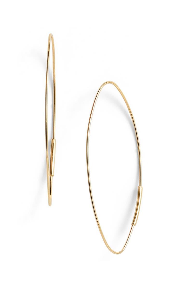 LANA JEWELRY 'Magic' Small Oval Hoop Earrings, Main, color, 710